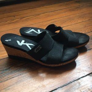 Anne Klein wedge sandals